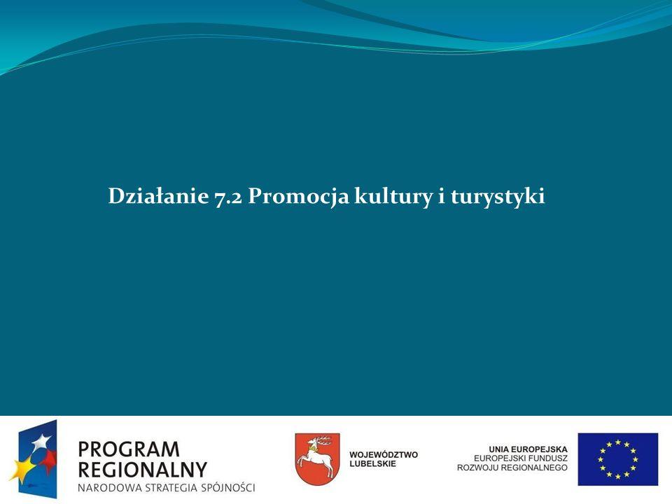 Działanie 7.2 Promocja kultury i turystyki