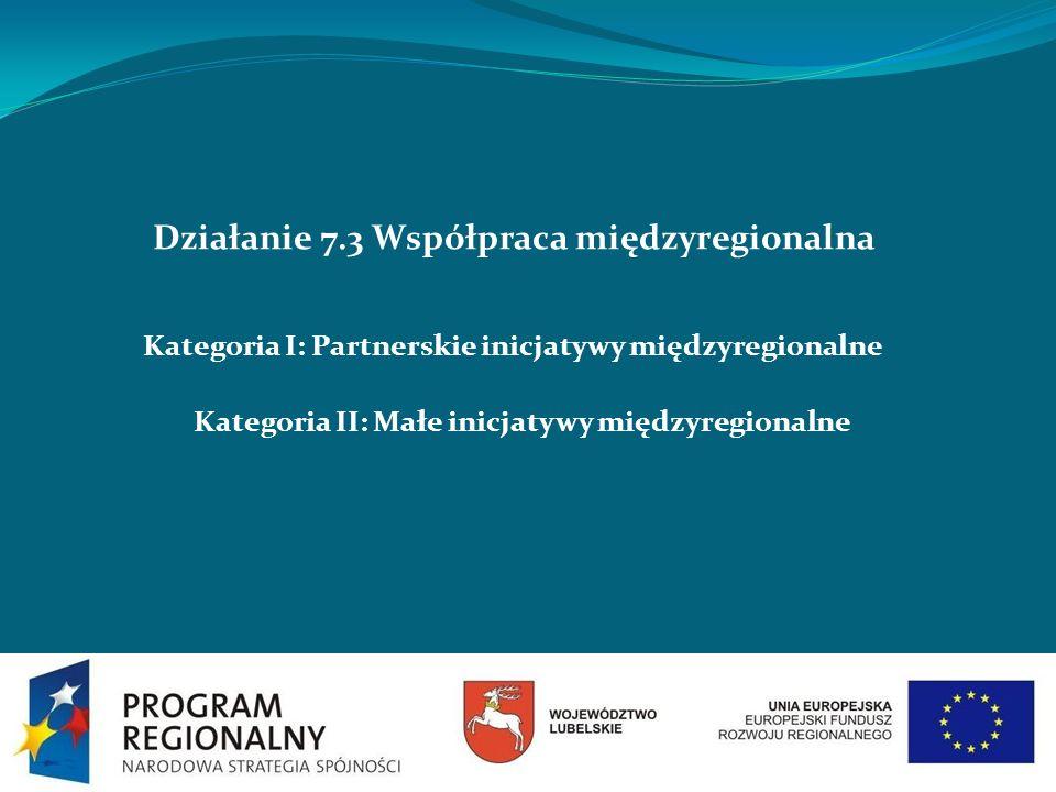 Działanie 7.3 Współpraca międzyregionalna