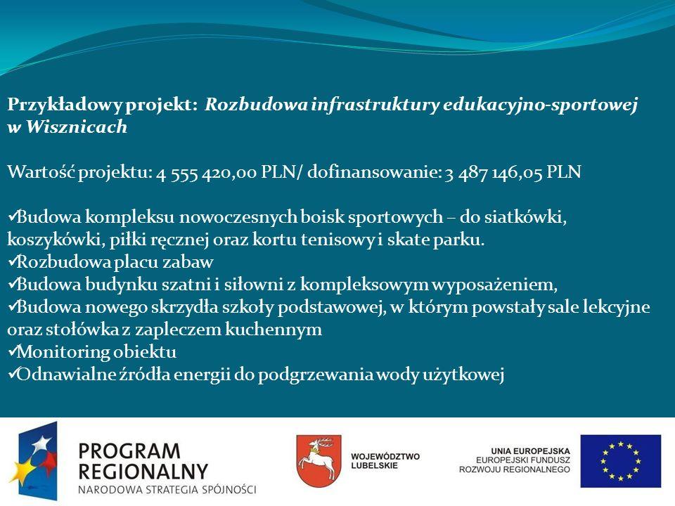 Przykładowy projekt: Rozbudowa infrastruktury edukacyjno-sportowej w Wisznicach