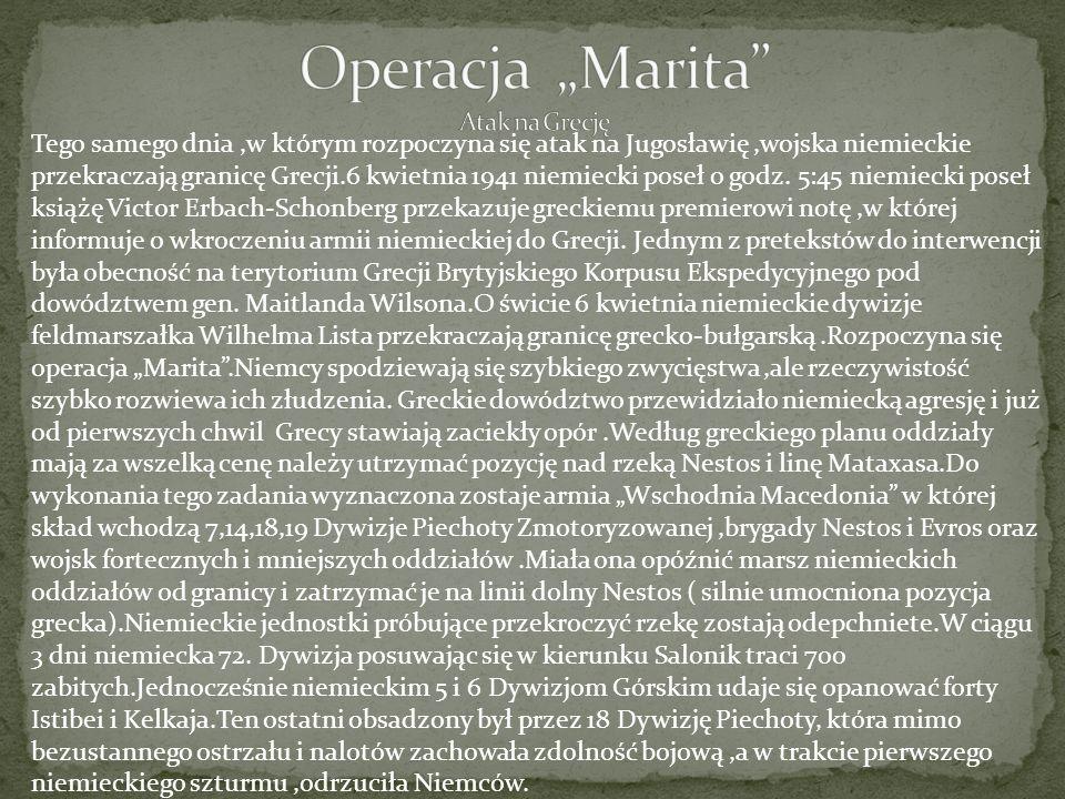 "Operacja ""Marita Atak na Grecję"