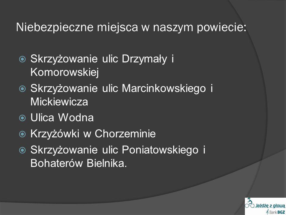 Niebezpieczne miejsca w naszym powiecie: