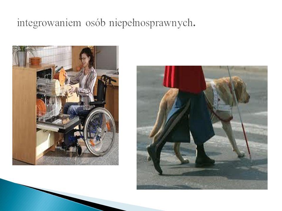 integrowaniem osób niepełnosprawnych.