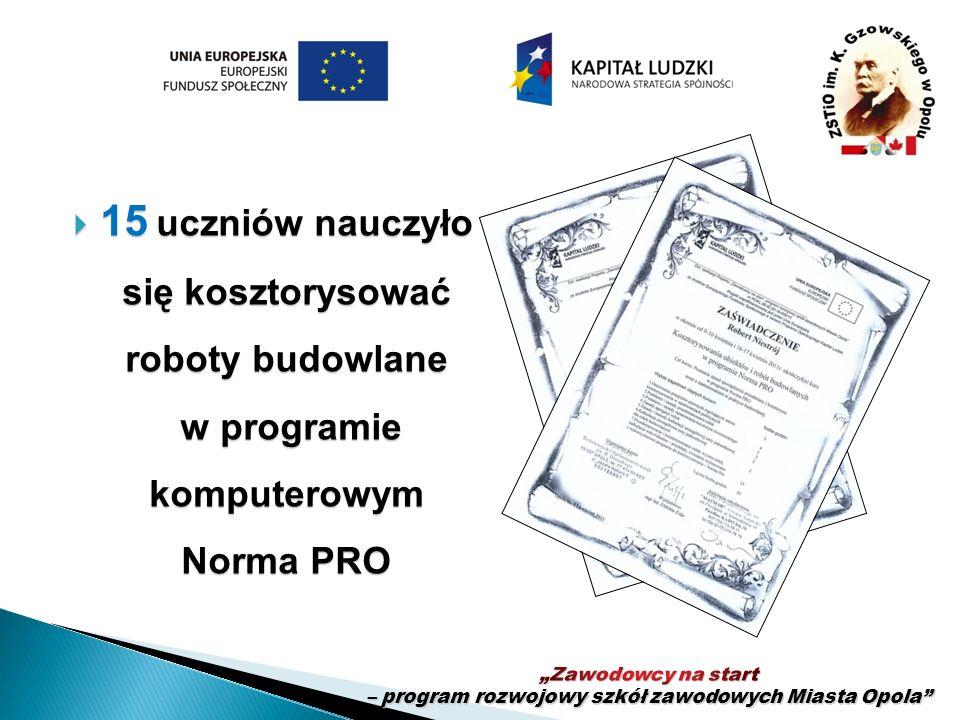 """""""Zawodowcy na start – program rozwojowy szkół zawodowych Miasta Opola"""