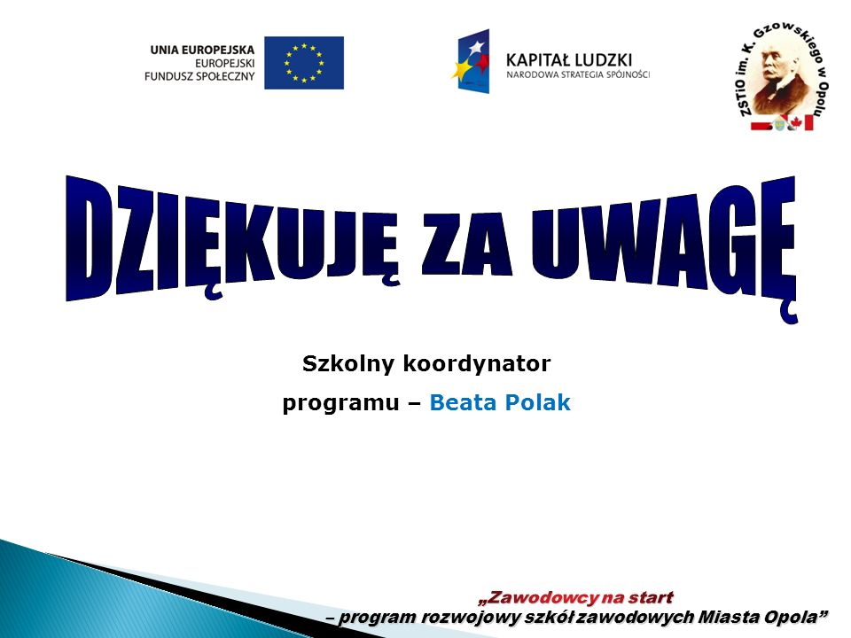 Szkolny koordynator programu – Beata Polak