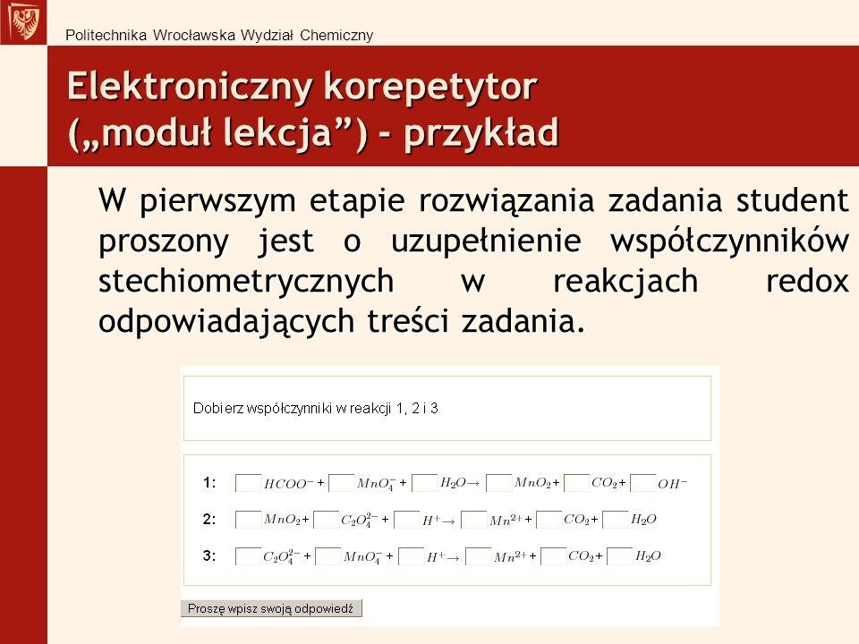 """Elektroniczny korepetytor (""""moduł lekcja ) - przykład"""