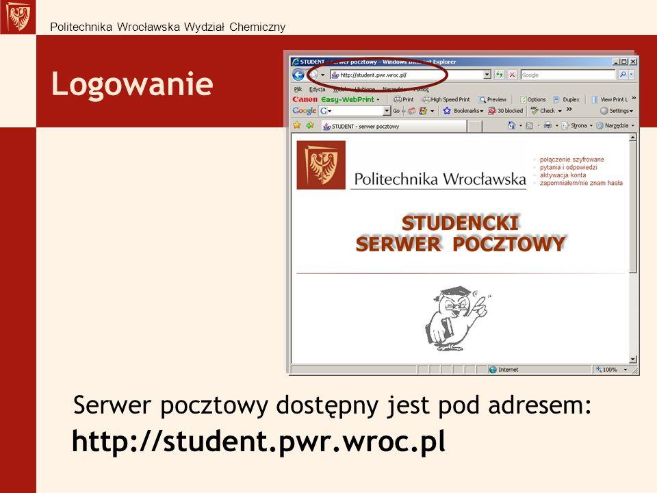 Logowanie http://student.pwr.wroc.pl
