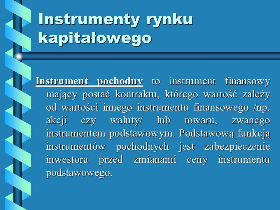Instrumenty rynku kapitałowego