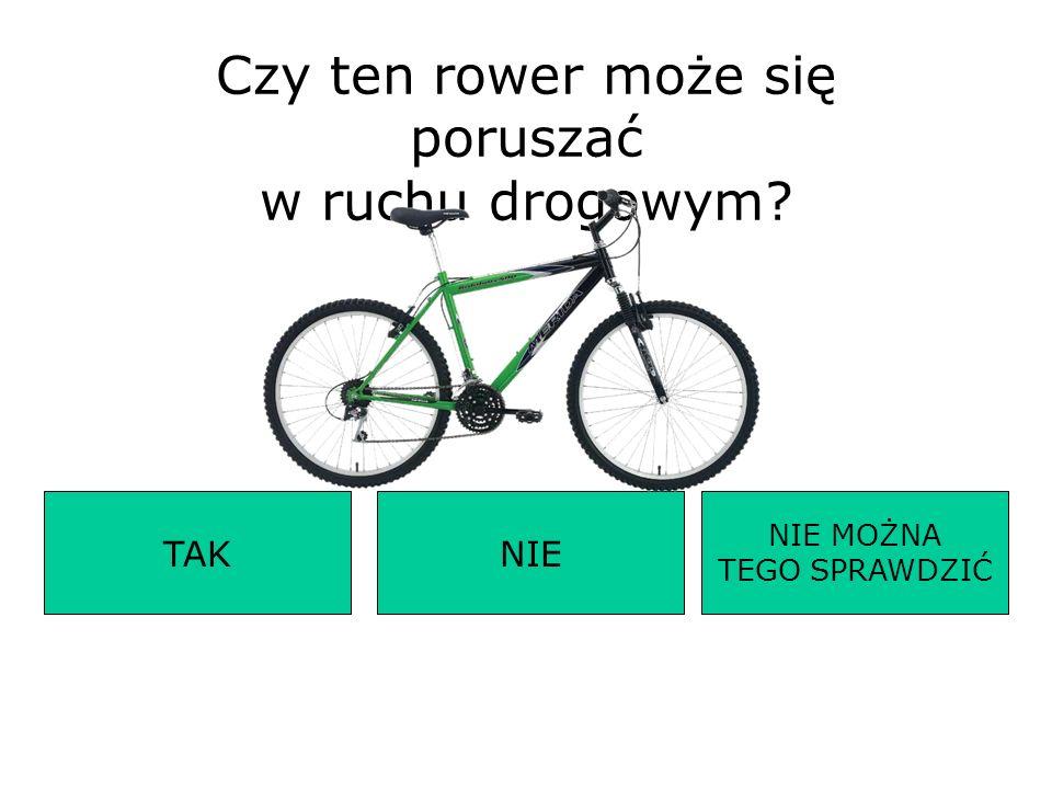 Czy ten rower może się poruszać w ruchu drogowym