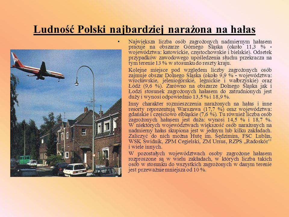 Ludność Polski najbardziej narażona na hałas