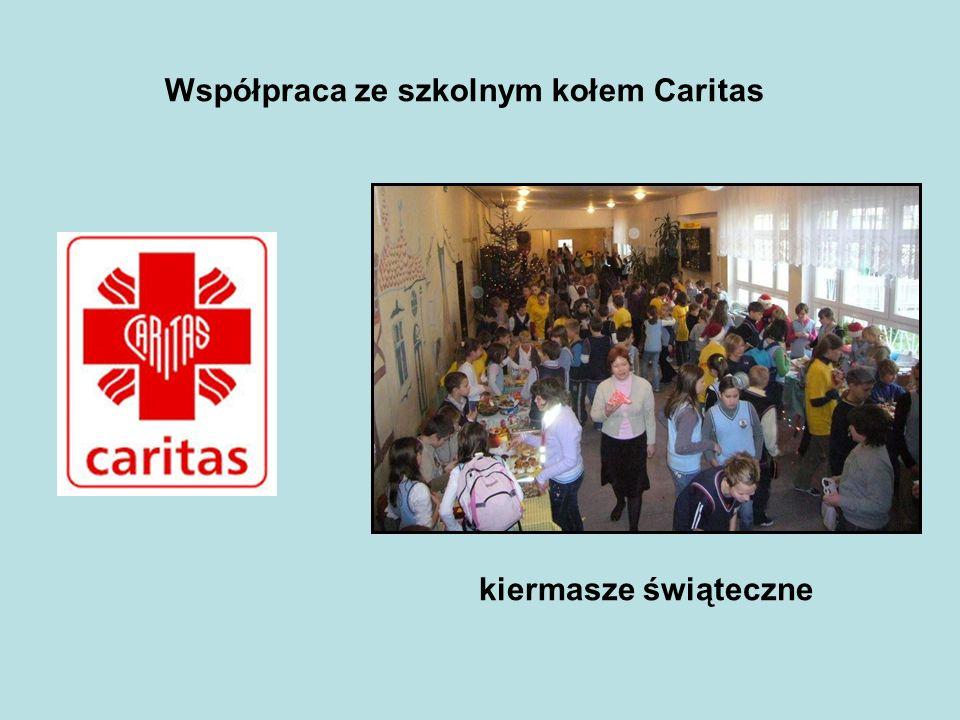 Współpraca ze szkolnym kołem Caritas