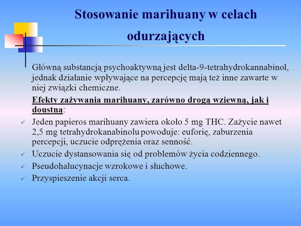 Stosowanie marihuany w celach odurzających