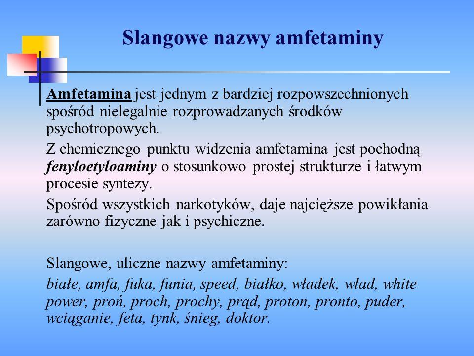 Slangowe nazwy amfetaminy