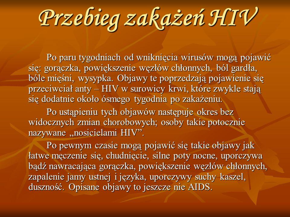 Przebieg zakażeń HIV