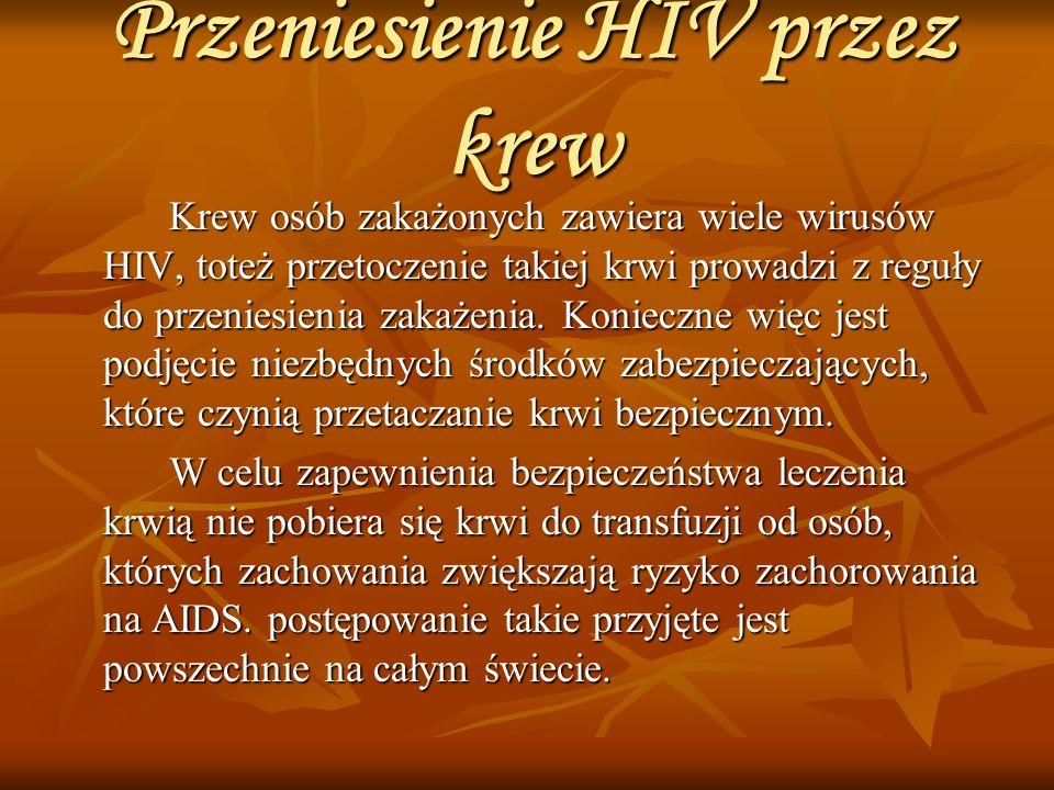 Przeniesienie HIV przez krew
