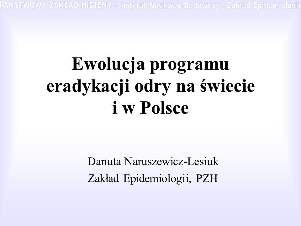 Ewolucja programu eradykacji odry na świecie i w Polsce