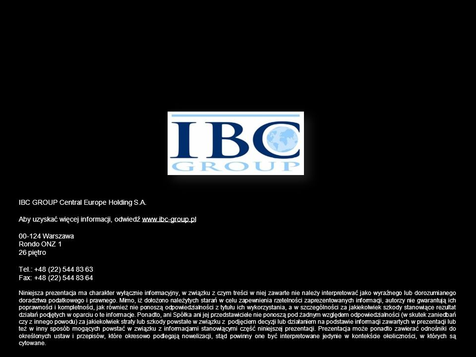 IBC GROUP Central Europe Holding S.A.