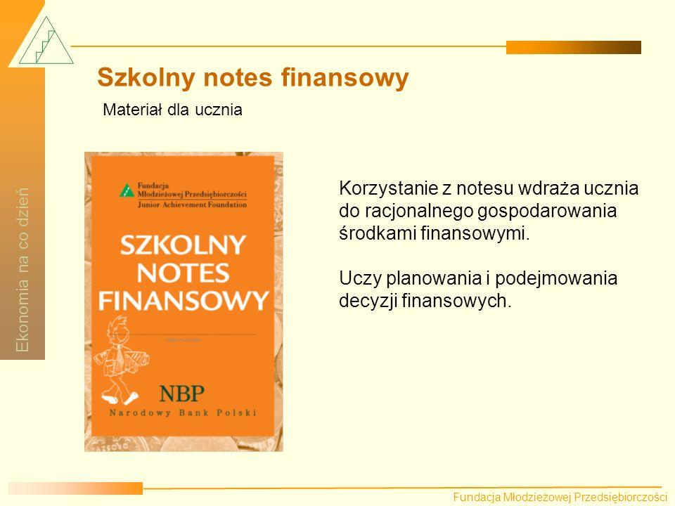 Szkolny notes finansowy