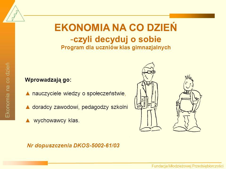 Program dla uczniów klas gimnazjalnych