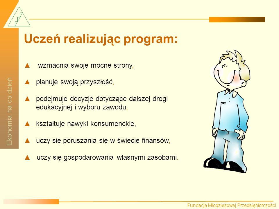Uczeń realizując program: