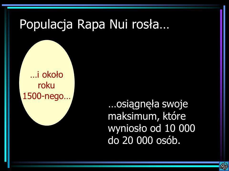Populacja Rapa Nui rosła…