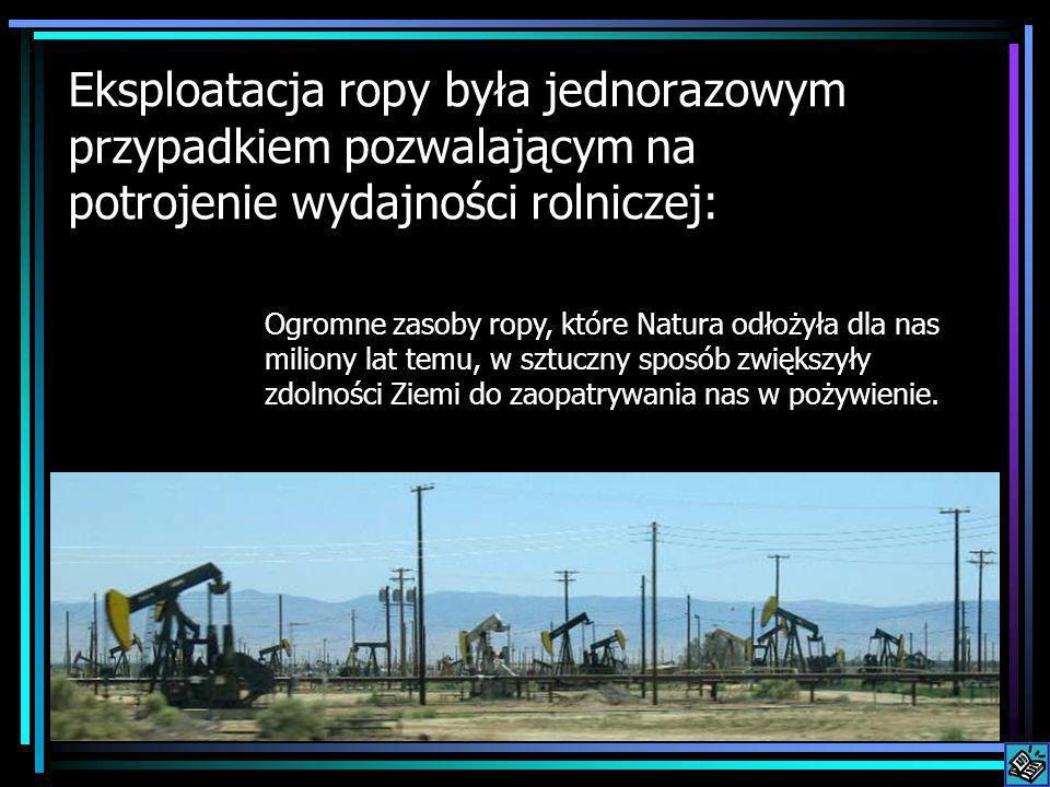 Eksploatacja ropy była jednorazowym przypadkiem pozwalającym na potrojenie wydajności rolniczej: