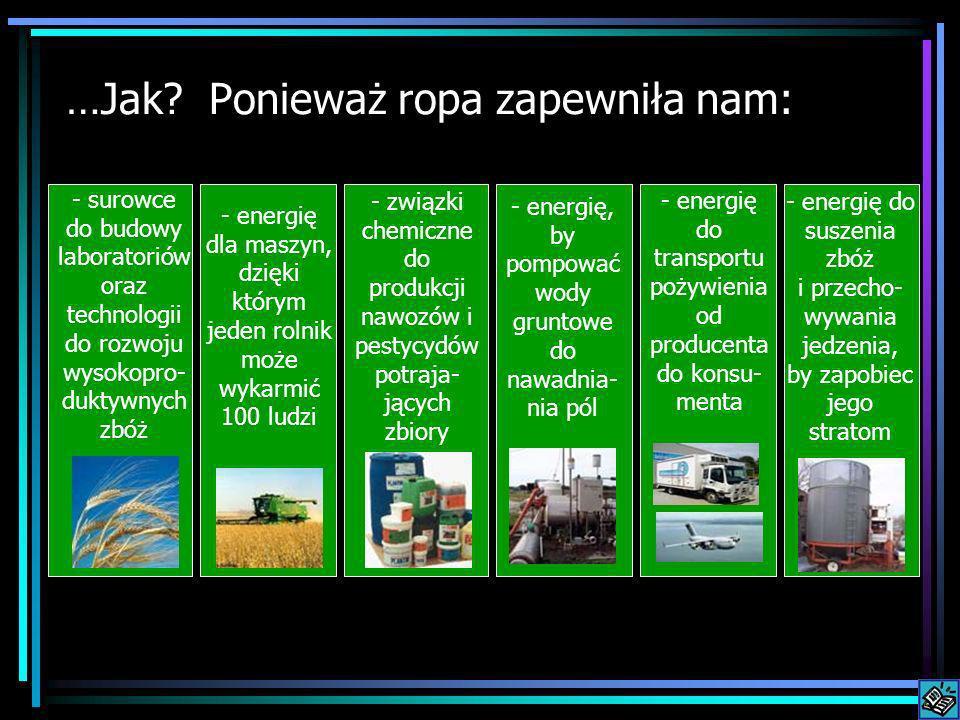 …Jak Ponieważ ropa zapewniła nam: