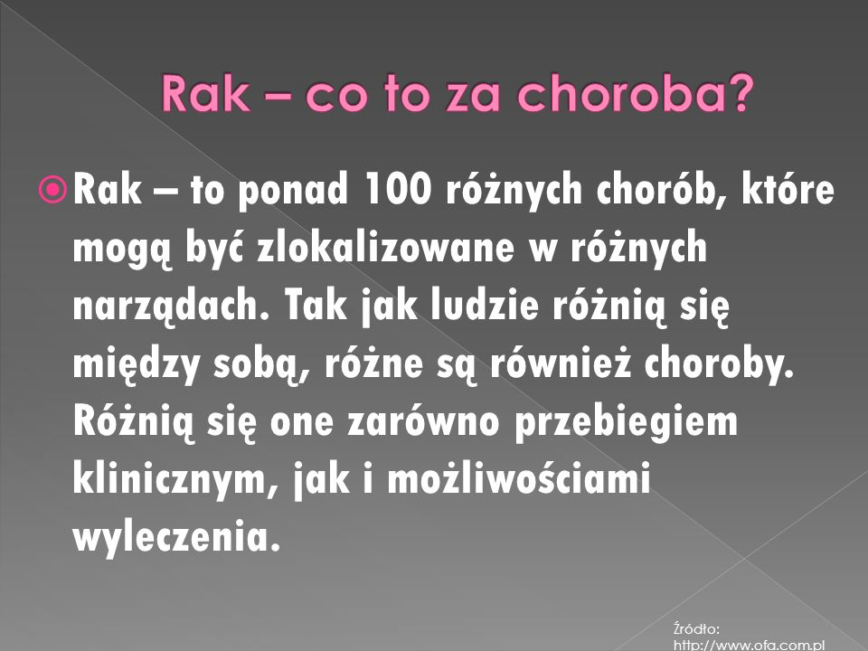 Rak – co to za choroba