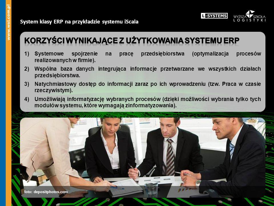 Korzyści wynikające z użytkowania systemu ERP