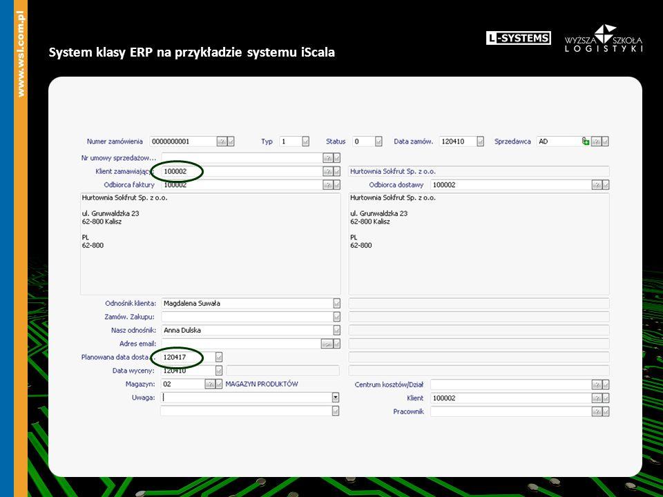 System klasy ERP na przykładzie systemu iScala