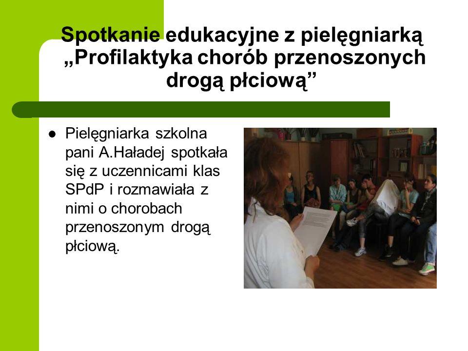 """Spotkanie edukacyjne z pielęgniarką """"Profilaktyka chorób przenoszonych drogą płciową"""