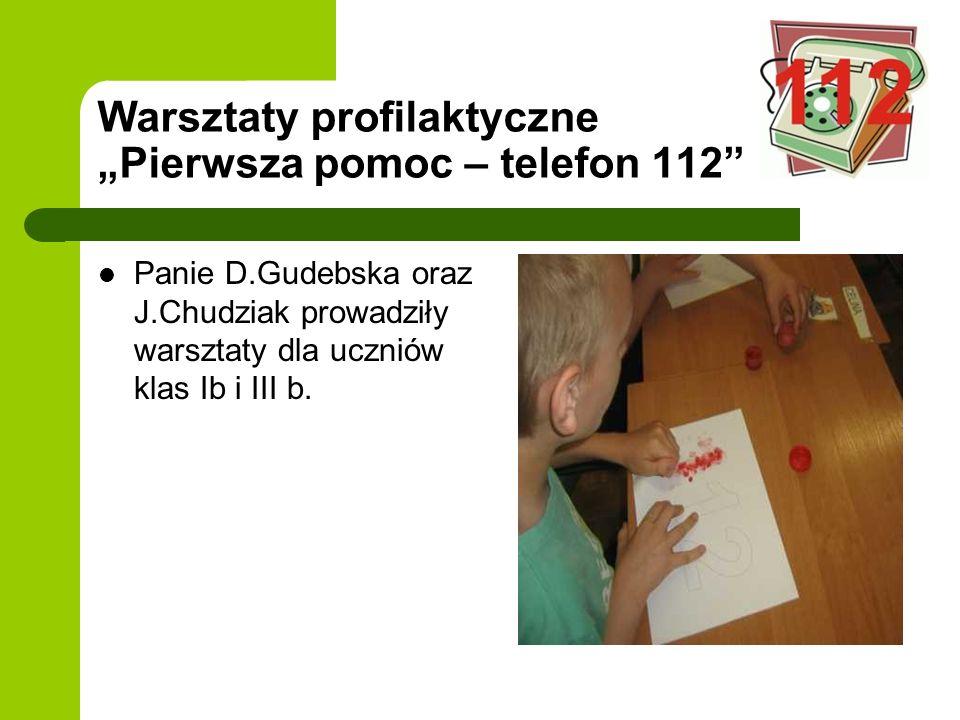 """Warsztaty profilaktyczne """"Pierwsza pomoc – telefon 112"""