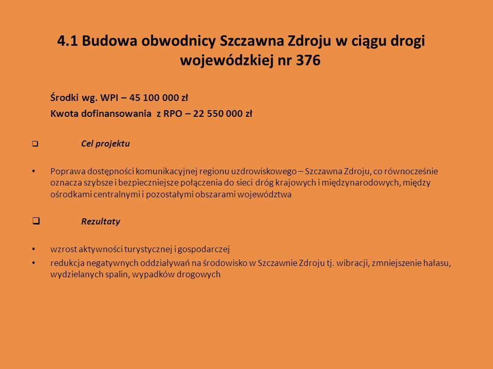 4.1 Budowa obwodnicy Szczawna Zdroju w ciągu drogi wojewódzkiej nr 376