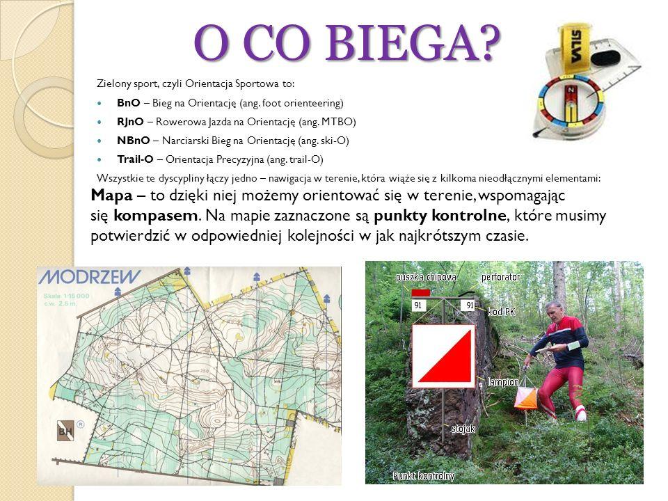 O CO BIEGA Zielony sport, czyli Orientacja Sportowa to: BnO – Bieg na Orientację (ang. foot orienteering)