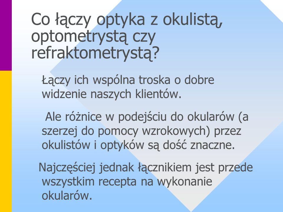 Co łączy optyka z okulistą, optometrystą czy refraktometrystą