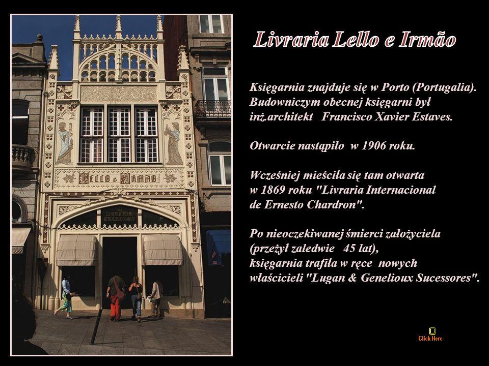 Livraria Lello e Irmão Księgarnia znajduje się w Porto (Portugalia).