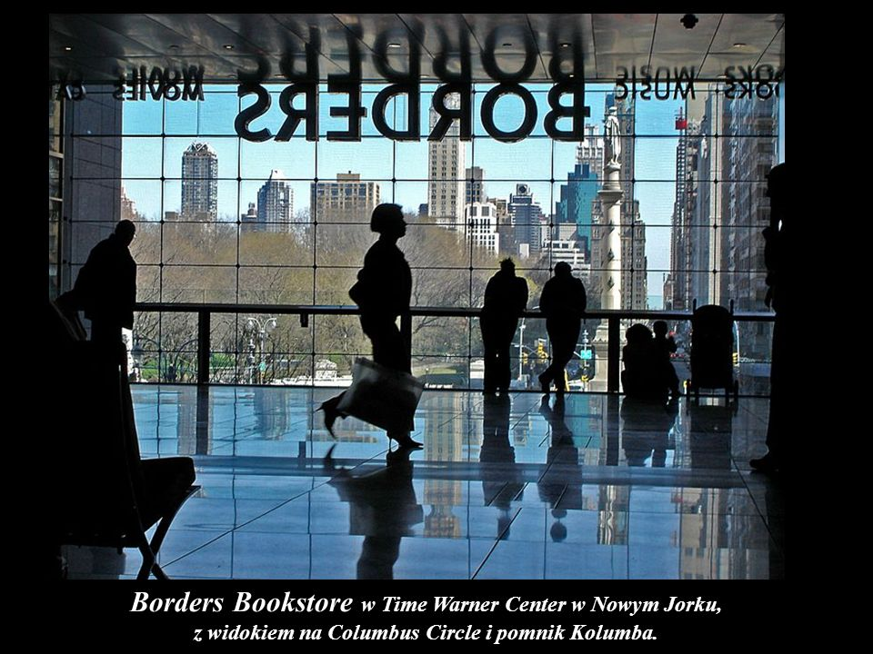 Borders Bookstore w Time Warner Center w Nowym Jorku,