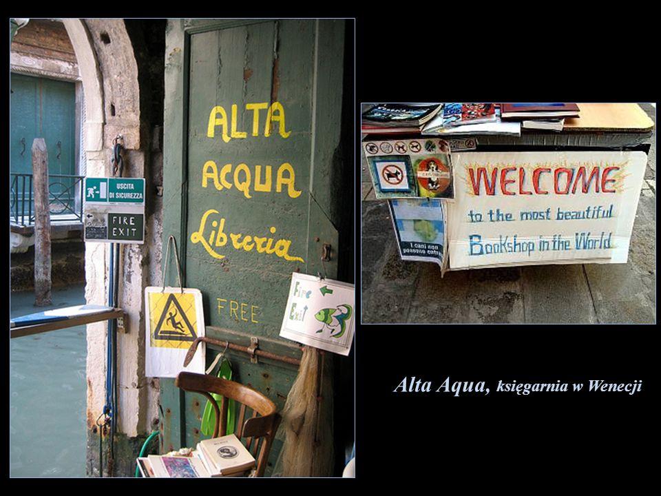 Alta Aqua, księgarnia w Wenecji