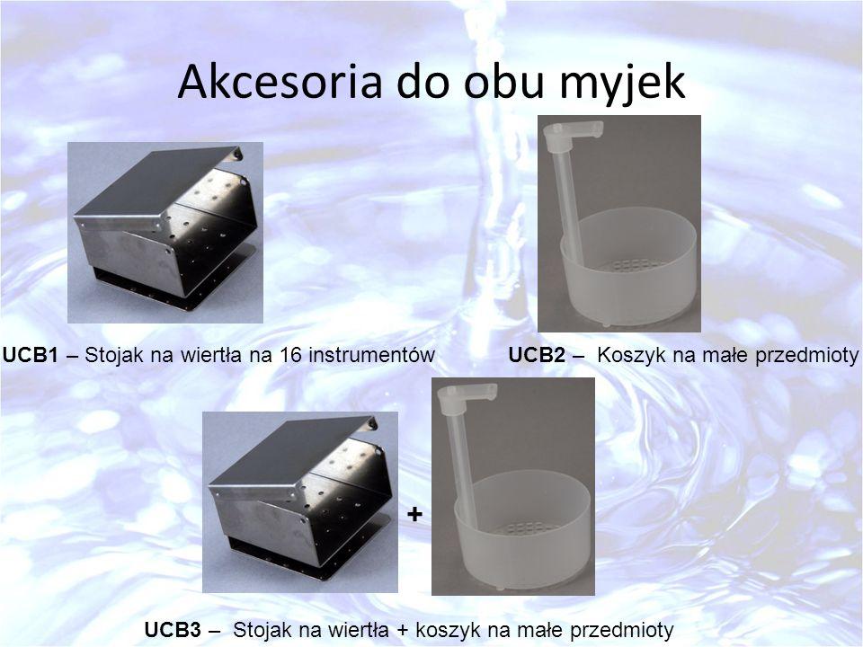 Akcesoria do obu myjek + UCB1 – Stojak na wiertła na 16 instrumentów