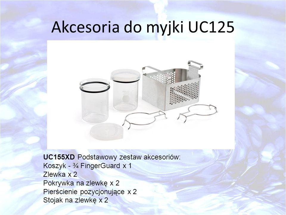 Akcesoria do myjki UC125 UC155XD Podstawowy zestaw akcesoriów: