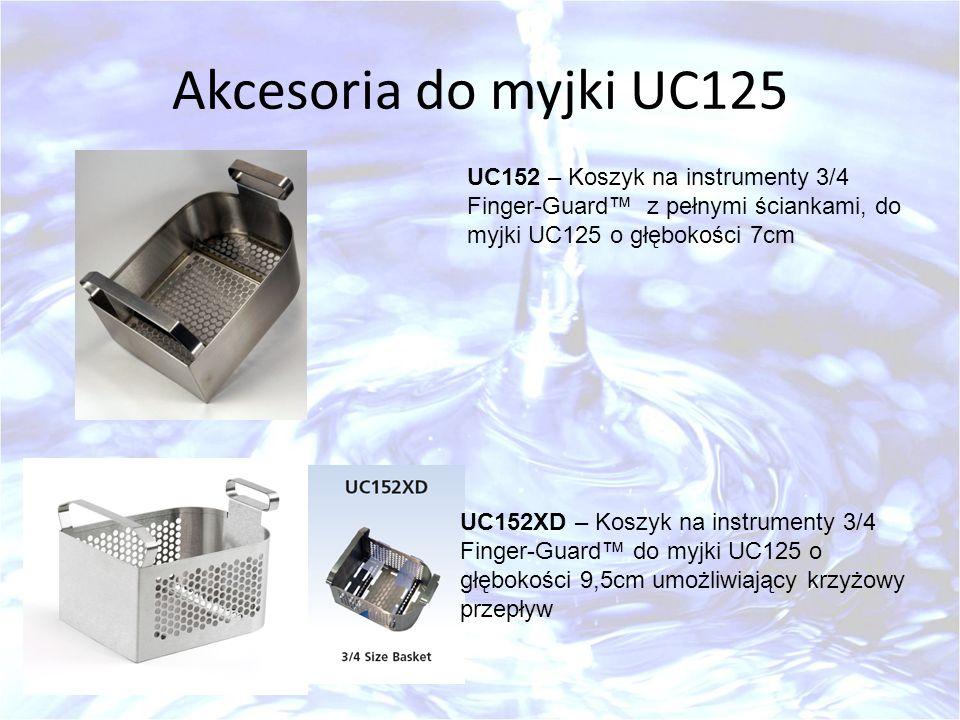 Akcesoria do myjki UC125 UC152 – Koszyk na instrumenty 3/4 Finger-Guard™ z pełnymi ściankami, do myjki UC125 o głębokości 7cm.