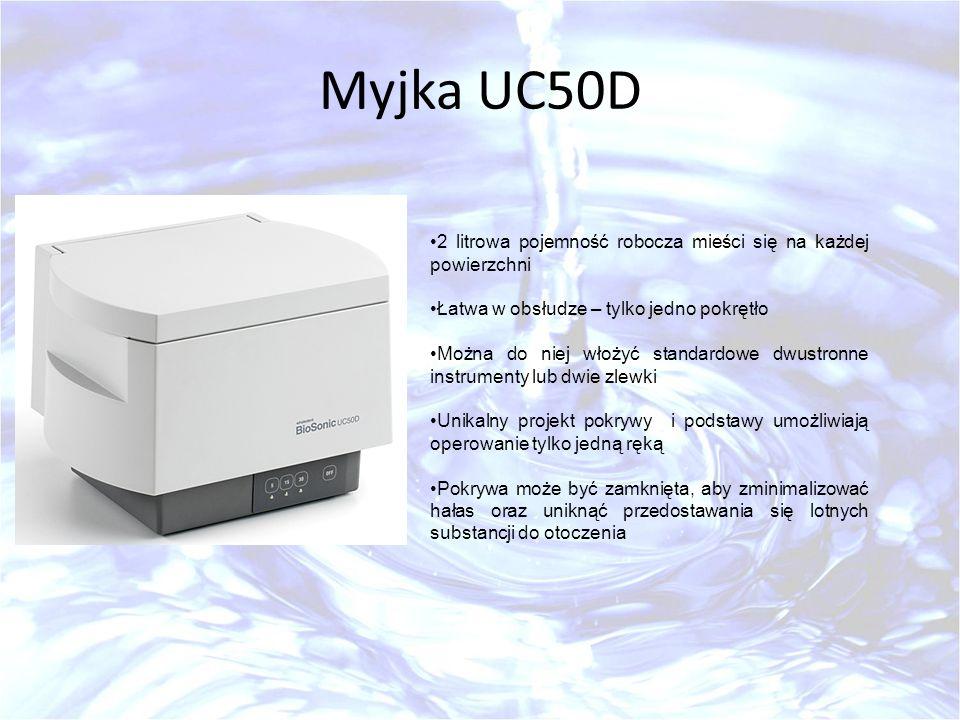 Myjka UC50D 2 litrowa pojemność robocza mieści się na każdej powierzchni. Łatwa w obsłudze – tylko jedno pokrętło.