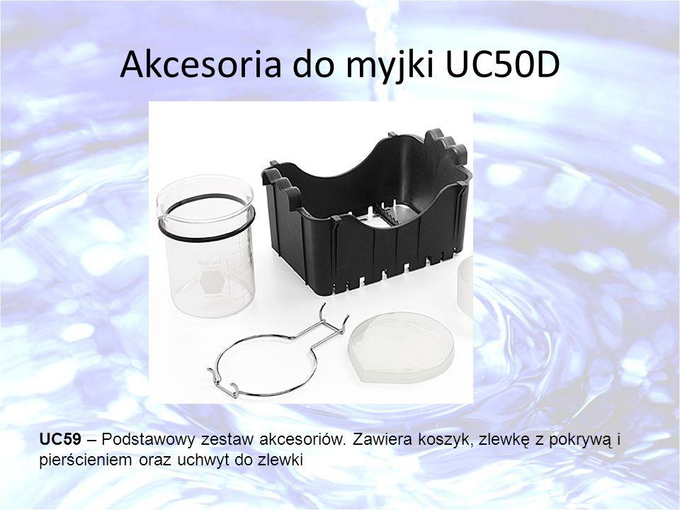 Akcesoria do myjki UC50D UC59 – Podstawowy zestaw akcesoriów.
