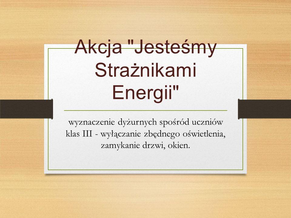 Akcja Jesteśmy Strażnikami Energii