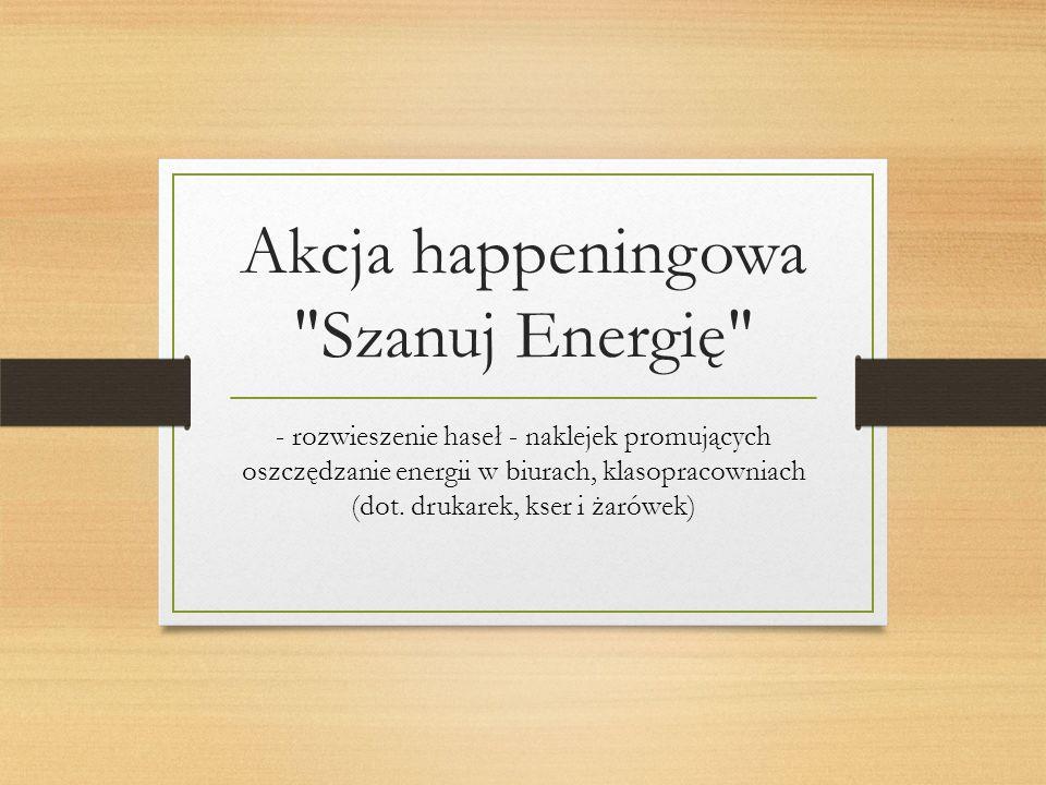 Akcja happeningowa Szanuj Energię