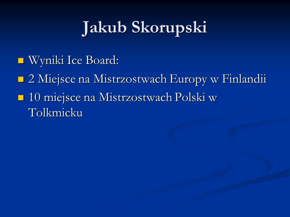 Jakub Skorupski Wyniki Ice Board: