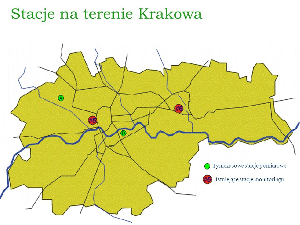Stacje na terenie Krakowa