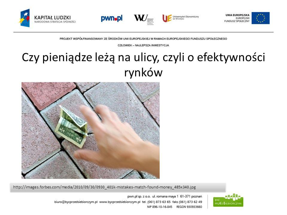 Czy pieniądze leżą na ulicy, czyli o efektywności rynków