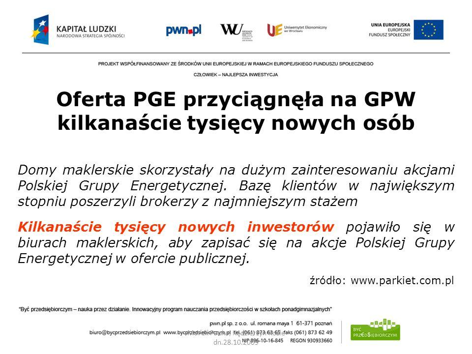 Oferta PGE przyciągnęła na GPW kilkanaście tysięcy nowych osób