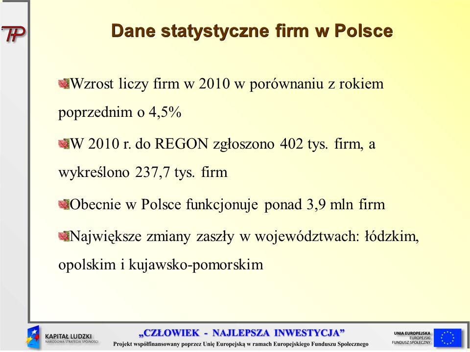 Dane statystyczne firm w Polsce