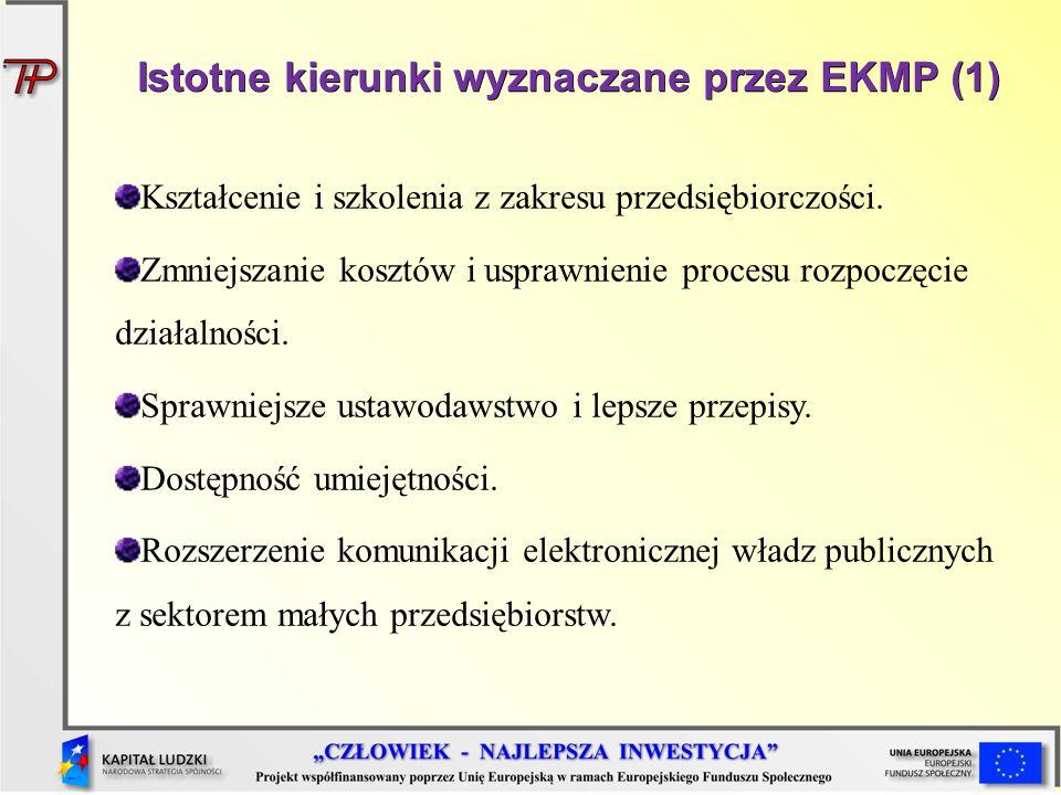 Istotne kierunki wyznaczane przez EKMP (1)
